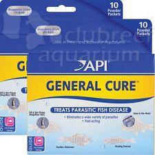 2 General Cure Powder FW & SW Aquarium Anti-Parasitic Fish Treatment API Powder