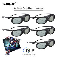 5Pcs JX-30 3D Active Shutter Glasses DLP-Link Black For BenQ W1070 W700 W710ST