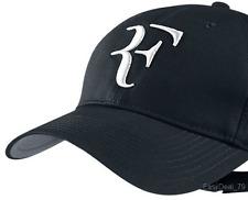 NEW 2017 RF Roger Federer BLACK Hat Cap Litmited Edition Adjustable Tennis Hat