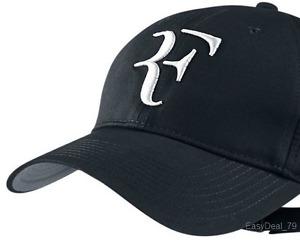 NEW RF Roger Federer BLACK Hat Cap Litmited Edition Adjustable Tennis Hat