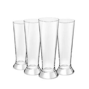 4PC Royal Leerdam 370ml L'Esprit Beer Pilsner Glass/Pint/Tall Drink Bar Glasses