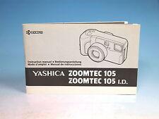 Yashica Zoomtec 105 Manual Instruction Manual - (100991)