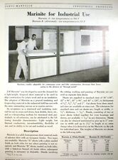 JOHNS-MANVILLE Marinite Asbestos use in Boiler & Engine Rooms! 1950
