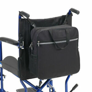 Waterproof Wheelchair Back Pack Shopping Bag with Carry Handle Black #E4