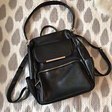 Coofit Multi Handle Option Backpack Handbag Black Leather Effect Gold Detail New