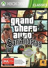 Grand Theft Auto GTA San Andreas Rare Brand New Condition Microsoft XBOX 360 PAL