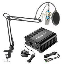 Neewer NW-800 Condenser Microphone Kit with Arm Stand Shock Mount Pop Filter