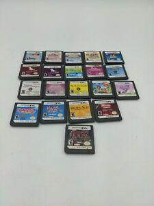 Nintendo DS Games Kids Lot Of 20 Games! Nintendogs,Mama, Etc mixed lot