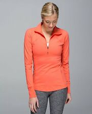 LULULEMON RACE WITH GRACE HALF ZIP PULLOVER IN ATOMIC REDSIZE 8 long sleeve