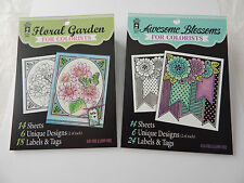 Hot off the Press Colorists Awesome Blossoms & Floral Gardens Adult Colouring 2p