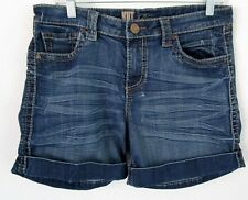 KUT From the KLOTH HEAVY Denim Great Shorts Sz 10 Slightly distressed cuff hem!