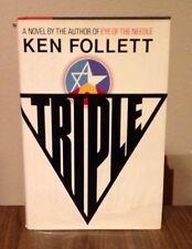 Triple-Ken Follett-SIGNED!!-True First U.S. Edition/1st Printing-1979-VERY RARE