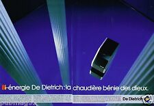 Publicité Advertising 1986 (2 pages) La Chaudière De Dietrich