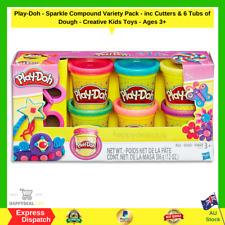 Play-Doh - Sparkle Compound Variety Pack - inc Cutters & 6 Tubs of Dough Ages 3+