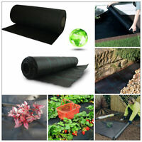 1m/2m Wide Heavy Duty Weed Control Fabric Ground Cover Garden Membrane Mulch