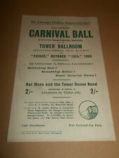 "TOWER BALLROOM EDGBASTON "" 2nd GRAND CARNIVAL BALL "" 1933 HANDBILL HALL MOSS"