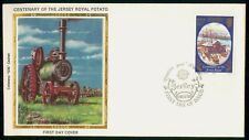 Mayfairstamps Jersey FDC 1980 Jersey Royal Centenary Tractor First Day Cover wwf