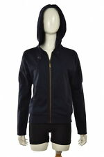 LAMB Sweater Size L Navy Blue Solid Hooded Full Zip Jacket Hoodie Cotton