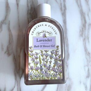 Crabtree & Evelyn Lavender Bath & Shower Gel 250ml - 90% Full