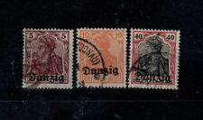 V28) Danzig 3x niet uitgegeven zegel opdruk maakwerk/fake