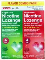 Nicotine Lozenge 4mg Mint Cherry Flavor Combo Pack (72 ct) Exp 11/19+ New Sealed