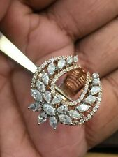 2.32 Carats Round Marquise Pear Shape Natural Diamonds Ring In 585 14K Rose Gold
