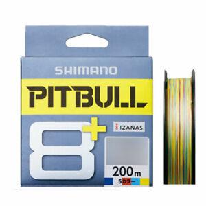 SHIMANO PITBULL 8+ Braided Line 200M Multi Colors Type Fishing PE Lines JAPAN