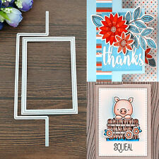 Square Metal Cutting Dies Stencil Scrapbooking Card Paper Embossing Handcrafts