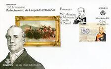 Spain 2018 FDC Leopoldo O'Connell 150th Mem 1v Cover Politicians Military Stamps