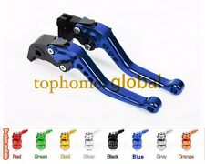 Short Clutch Brake Levers For YZF600R Thundercat 1996-2007 Blue CNC Adjustable