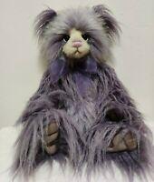 "Charlie Bears Limited Edition Charlie Plush Bear 20"" tall Purple Fur EUC"