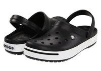 100% Authentic Crocs Crocband II Clogs,Black & White Men's Size 10 Women Size 12