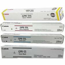 Canon GPR-55 Black, GPR-55L Magenta, GPR-55L C, GPR-55L Yellow Toners (set Of 4)