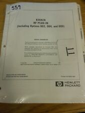 HP/Agilent 83592A RF Plug-In Opt 002/004/005 Operating and install Loc 559