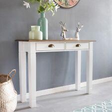 Mesa de consola PESO escritorio de aparador de 100cm Mesa batidor madera blanca