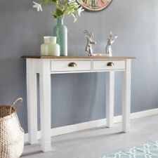Table console PESO Bureau 100cm Buffet Table coiffeuse bois blanc table bureau