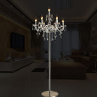 Véritable K9 Chandelier Cristal Sol Lampe / Table Transparent Couleur 5, 7 Feux