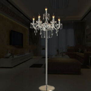 Genuine K9 Crystal Chandelier Floor Lamp/Table Lamp Clear Colour 5, 7 Lights