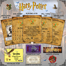 Harry Potter Acceptance Letter + More - Personalised - Gift Set -