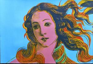 Andy Warhol Birth of Venus Botticelli Offset Lithograph 24 x 36