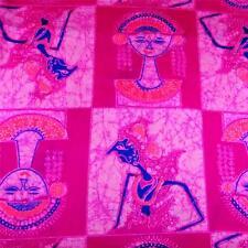 "Rare Vintage THC Hawaiian Print ""Ali'i"", Textured Cotton Blend, 2 Yds 11"""