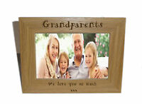 Grandparents Wooden Photo Frame 6 x 4 - Personalise this frame - Free Engraving