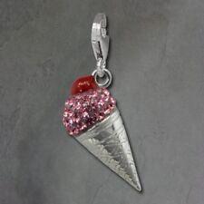 Charms y pulseras de charms de joyería rosa