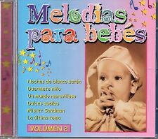 Melodias Para Bebes Vol 2 (2000 CD) Instrumental Tunes Baby Relaxation (New)