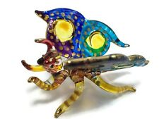 TINY CRYSTAL BUTTERFLY HAND BLOWN CLEAR GLASS ART FIGURINE ANIMAL COLLECTION