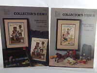 Trade Cards in Cross Stitch Lot of 2 Patterns Scarlet Thread Linda Jary 1985