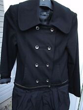 Ladies Cue adjustable length military style double breasted Jacket/Coat   Size 8