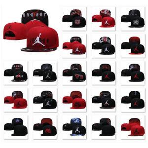 Embroidered Jordan Flat Brim Basketball Snapback Hat Sport Unisex Baseball Cap