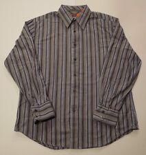 Nyne Mens XL Button Down Long Sleeve Striped Shirt