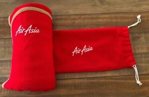 AIR ASIA RED IN FLIGHT BLANKET in ORIGINAL BAG ~ 160 cm x 100 cm ~ COLLECTABLE